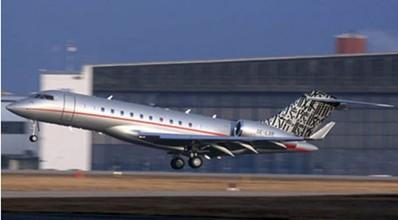 Graffiti artist trades street vandalism for VistaJet Bombardier Jet