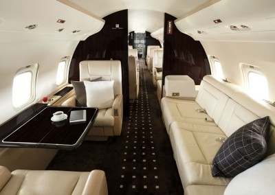 VistaJet Bombardier Challenger 850 Private Jet Interior