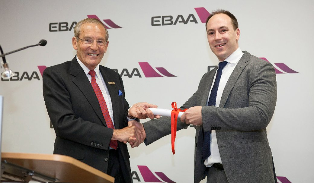 VistaJet receives first ever EBAA Diamond Safety of Flight award