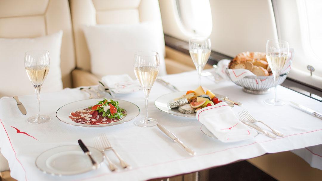 定制飞机餐点-维思达公务机