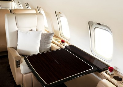 VistaJet Bombardier Challenger 850 Private Jet Table Seating