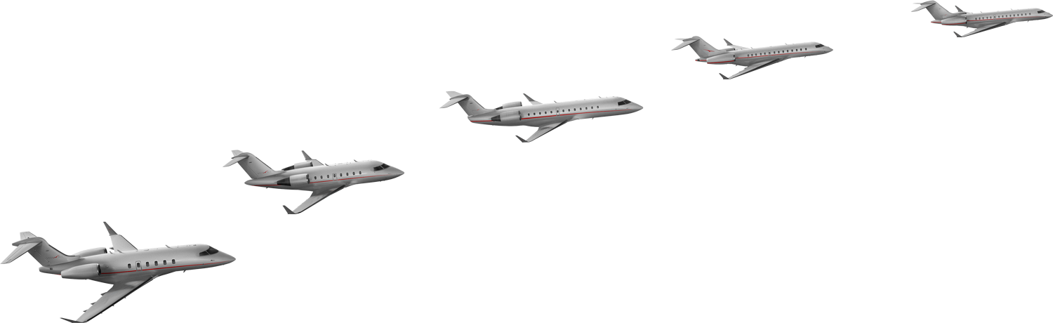 VistaJet Bombardier Private Jet Fleet