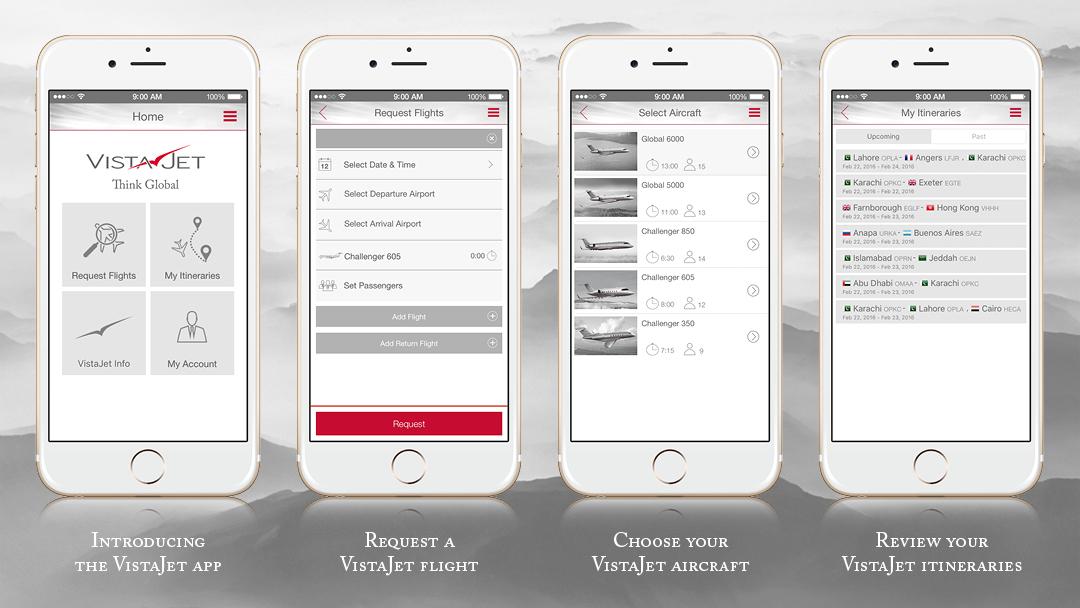 VistaJet mobile app takes off