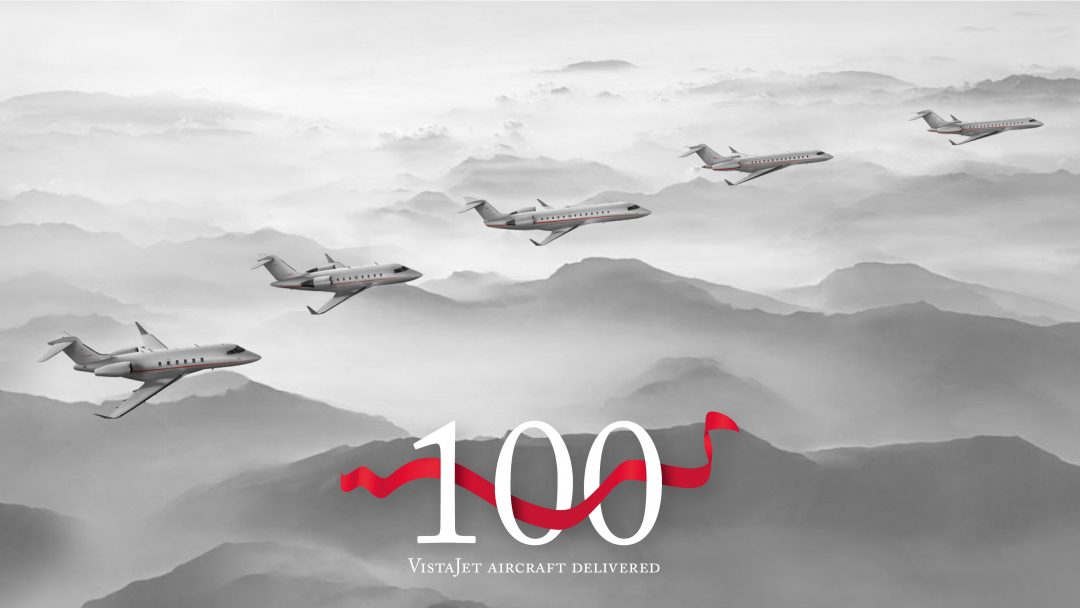 VistaJet passes 100th aircraft milestone