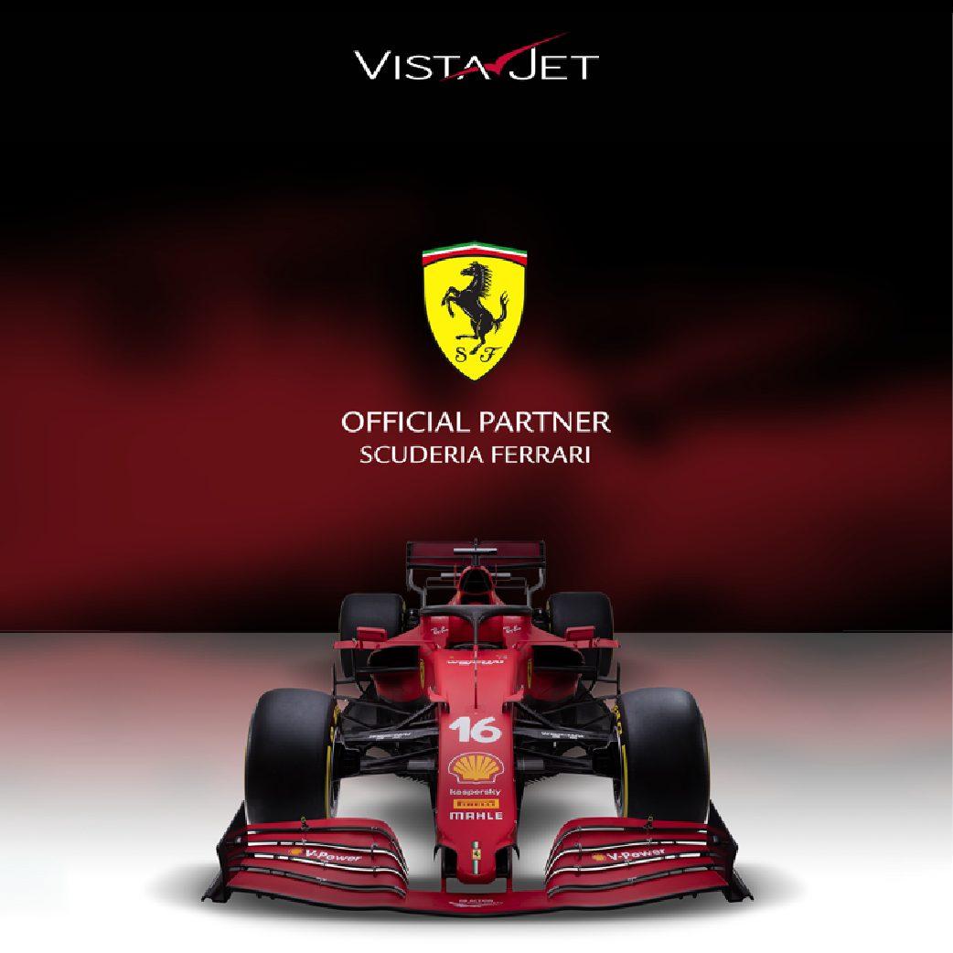 维思达公务机成为Scuderia Ferrari法拉利车队 2021年F1锦标赛官方合作伙伴